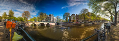 Prinsengracht - Reguliersgracht (Michiel Pappot) Tags: prinsengracht amsterdam panorama duchs reguliersgracht canal beautiful sun bicycle summer