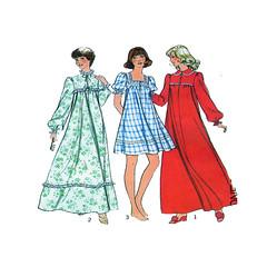 Style 1372 sewing pattern (FindCraftyPatterns) Tags: women sleepwear sewingpattern style1372 nightdress shortnightgown housedress fulllength loungwear nightie size1214 uncut
