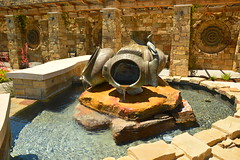 FRom whence the water came from (radargeek) Tags: sulphur oklahoma ok architecture fish sculpture chickasaw
