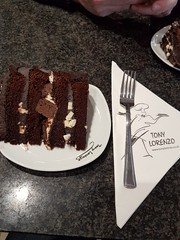 A Healthy Lunch (Steveneva88) Tags: foodporn cakeporn cake chocolate whitechocolate chocolatebrownie brownie chocolatecake fork plate tonylorenzo