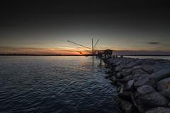 trabucchi a Sottomarina (paolotrapella) Tags: trabucchi ghioggia sottomarina italia mare sea acqua water tramonto sunset crepuscolo