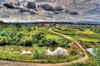 the village is on a mountain Ural (Sergey_Zaytsev) Tags: hdr hdri landscape clouds sky
