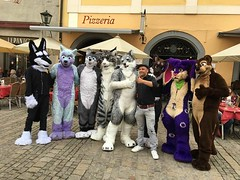"""Yesterday my best friend Arco Fluffypaw and me started our little trip through Europe via caravan :3 We """"accidently"""" crashed a Fursuit event in #Regensburg and ended up running around with that group ^-^ Now we are on the way to Austria! Looking forward t (Keenora Fluffball) Tags: keenora fursuit furry kee"""