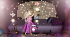 Miracles in my bedroom (meriluu17) Tags: rapunzel enchantment tangled lights floer flowers child kid baby girl sweet cute catch curious play bedroom game musicbox tower stars sun tale childhood people babygirl princess