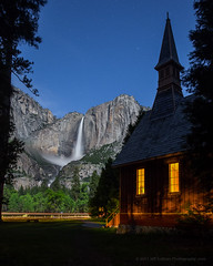 Yosemite Chapel at Night (Jeffrey Sullivan) Tags: chapel night yosemite national park moonbows waterfalls yosemitenationalpark valley village mariposacounty california united states usa nature landscape travel photography workshop canon eos 6d photo copyright sullivan may 2017 jeff