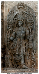 Dwaarapalaka (Sentinel) (vatsaraj) Tags: sentinel halebidu halebeedu ancient ruins temple architecture stonework stonetemple stonearchitecture hoysala hoyasala nikon d300 vatsaraj cvatsaraj sculpture statue