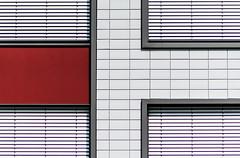 minimal urban facade VI (Lunor 61) Tags: abstract abstrakt minimal minimalismus minimalistisch minimalism urban city building facade fassade symmetrie symmetry textures lines linien red rot white weis grey grau ireneeberwein architecture architektur