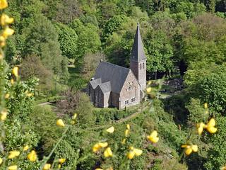 Evangelische Kirche und Friedhof, Bad Bertrich - Germany (N1951)