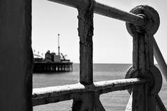 Palace Pier (Sean Sweeney, UK) Tags: brighton palace pier black white bw groyne sea