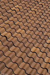 Red Tile Roof (Thad Zajdowicz) Tags: california usa availablelight canon eos 5dmarkiii 5d3 dslr digital lightroom ef24105mmf4lisusm noperson wallpaper background texture zajdowicz solvang tile roof red color colour earthtone pattern lines repeating repetition abstract curves