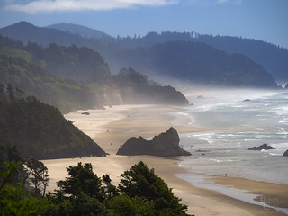 Misty Summer Day on the Oregon Coast