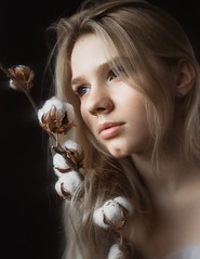 Vlada (ivankopchenov) Tags: girl portrait cute canon beautiful natural model mood people face soft light eos young hair warm sensual gentle cinematic depthoffield eyes indoor black dark naturallight cotton