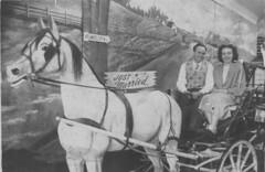 Just Married, 1952 (nate'sgirl) Tags: vintage bw blackandwhite scan photo family retro blancoynegro america familia jerseyshore justmarried