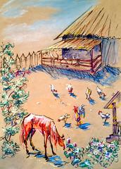 1841 (Мария Юрист) Tags: 365 illustration иллюстрация животные насекомые insects animals brushpen ручкакисть брашпен художка пастель