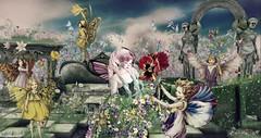 Boudoir's Secret Garden (roxi firanelli) Tags: boudoir analogdog fantasy fantasyfaire2017 bloom prismevents lode decoy vco coco doll garden spring secondlife