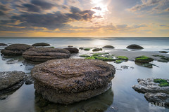 Stepping Stones (Explored) (Frans van der Boom) Tags: geel fvdb nikon netherlands holland d5300 decisive moment creative flickr flickriver explore best camera prime lens eyed eye scene photography seascape