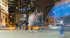 Walk On By (tquist24) Tags: chicago illinois michiganavenue nikon nikond5300 people trumptower wackerdrive city downtown geotagged lights longexposure night pedestrians sidewalk street unitedstates