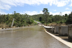 Flooded Bridge (*SIN CITY*) Tags: water flood qld oz australia goldcoast rain aussie bridge debri tree river scenery queensland beautiful road 7d canon