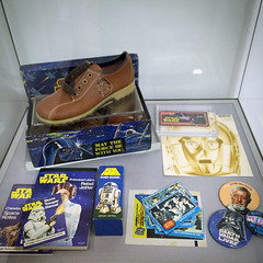 Vintage Star Wars collectables – Galaxy in the Gallery, Nuneaton Museum & Art Gallery (eyeSPIVE) Tags: galaxyinthegallery starwars museum artgallery display collection nuneaton warwickshire clarks letraset topps cliro lyonsmaid factors
