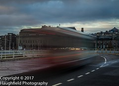 Ghost Traffic (Rumbalow) Tags: unitedkingdom scotland bridge bus uk dundee vehicle traffic traffictrails