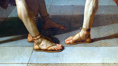 David, Oath of the Horatii, feet
