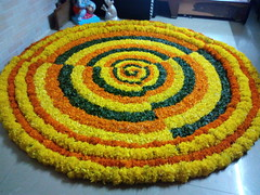 IMG_20160918_101924 (bhagwathi hariharan) Tags: onam pookalam flower rangoli kolam carpet floral nalasopara nallasopara virar aathapookalam tiruonam