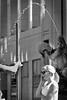 talk under water (heinzkren) Tags: brunnen springbrunnen fountain donnerbrunnen neuermarkt wien vienna call anruf handy lady dame frau schwarzweis blackandwhite biancoetnero noireetblanc monochrome urban candid street streetphotography wasser water wassertropfen waterdrops parabel parabola