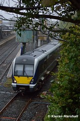 4019 departs Lisburn, 22/4/17 (hurricanemk1c) Tags: railways railway train trains translink 2017 northernirelandrailways nir caf class4000 c4k lisburn 4019 1510lisburnbangor