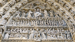 Amiens Cathedral, central tympanum