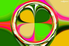 quadrifoglio (archgionni) Tags: abstract circle quadrifoglio quatrefoil fantasia fantasy genio ingenious arte art colori colours verde green giallo yellow rosso red vividstriking