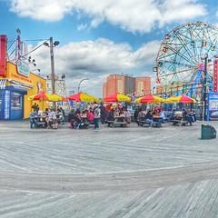 Nathans Coney Island (artsynancy) Tags: coneyisland brooklyn coneyislandbrooklyn spring amusement throwback urban seaside shore boardwalk carousel entertainment newyorkcity newyork brooklynnewyork nathans hotdog hotdogs