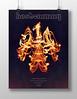 Hootenanny Phoenix Poster (d30n5) Tags: d30n d30ncom posters graphicdesign portlandoregon phoenix stars fire typography photography wideangle longshutter longexposure photoshop tokinaaf1224mmf4 nikond90 nikon