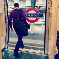 'Stepping Out' (SONICA Photography) Tags: eztd barbicantubestation london londres england imagesoflondon lovelondon man hombre homme sonica imagessonica photography