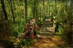 Le songe féerique d'une balade de printemps, cinquième  partie : le gardien des deux ponts (florence.V) Tags: france hautsdefrance pasdecalais 62 beuvry domainedebellenville nature forêt photoshop texture petitdelire songeféerique musicphoto