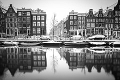 CH-4956 - Amsterdam, The Netherlands (N+C Photo) Tags: amsterdam winter nd neutral density filter long exposure slow shutter speed holland dutch iamsterdam canal water agua netherlands benelux europa european cold black white blackwhite monochromatic mono bw mokum houses reflection reflejos paísesbajos holanda culture cultura history historic historico architecture arquitectura architectural leidsegracht travel traveler traveling traveller travels adventure adventurers adventurer adventuring explore explorer exploring 1635f40