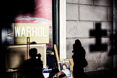 Warhol in light and shade (michele liberti) Tags: shadwandlight selfie shadow light cross warhol napoli naples italy