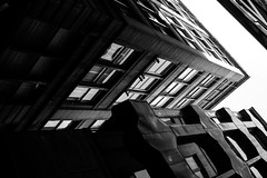 Resistance is futile... (John fae Fife) Tags: fujifilmx noiretblanc xe2 scotland monochrome buildings building architecture abstract bw nb blackandwhite glasgow