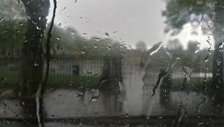 Hail rain in Acocks Green - Westley Road -  Acocks Green Recreation Ground