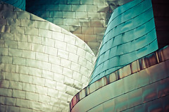 Curvature (The Green Album) Tags: guggenheim museum bilbao spain metallic sheets aluminium curves abstract folds layers architecture modern contemporary fujifilm xt2