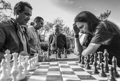 Opponents (Itsnotme!) Tags: thinking intense think chess opponent board game competition stress black white bw darmstadt deutschland stphotographia
