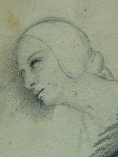 COURBET Gustave - Main, Figures en buste et Figures dans la Campagne, Etudes (drawing, dessin, disegno-Louvre RF29234.22) - Detail 61