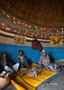 Men chewing khat inside their traditional house with decorated and painted walls, Kembata, Alaba Kuito, Ethiopia (Eric Lafforgue) Tags: abyssinia adultsonly africa alaba architecture art artwork building color culture decorated decoration depiction eastafrica ethiopia ethnic fulllenght geometric halaba home hornofafrica house housing hut illustration islam kat kulito men mural muslim onlymen painted painting poverty qat residential ruralscene toukoul traditional tukul vertical village ethio163243 alabakuito kembata