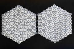Connection 3 and 2 (Marjan Smeijsters) (De Rode Olifant) Tags: marjansmeijsters origami paper paperfolding tessellation connection connection2 connection3 butterflymolecule