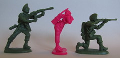 Pink Army Women 20 (SixbyFire) Tags: pinkarmywomen japan 132 54mm 58mm armymen armywomen figures poses import gashapon atlantic commandos commandoes toysoldiers toysoldier toy soldier