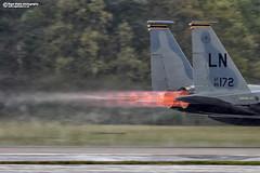 """Hot and wet"" F-15C Burners (Nigel Blake, 14 MILLION...Yay! Many thanks!) Tags: 860172 f15c eagle blasts off heavy rain nigelblakephotography nigelblake afterburners reheat flame fire shockwave usaf"