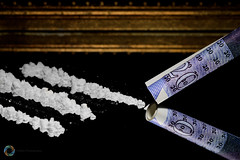 121/365 Crime ([inFocus]) Tags: canon 100mm macro macromonday crime drugs money coke 365 3652017 project365 mirror reflection