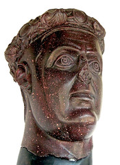 Porphyry bust of emperor of Rome Galerius, from his palace in Romuliana (Historystack) Tags: deaths romanempire romanemperors historyofitaly ancientrome government earth europe 4thcentury solarsystem may5 listofromanemperors galerius licinius civilwarsofthetetrarchy maximinusii year311 310s milkyway