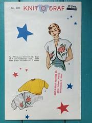 Knit O Graf 920 (kittee) Tags: kittee knitting vintage vintageknitting vintagepattern pattern knitograf bolero 1950s 1951 dolmansleeves sweater hardtofind size12 size14 size16 size18 multisized fingering 920 knitograf920 dellafitch