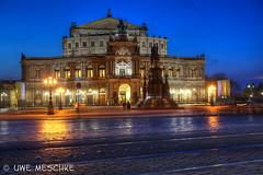 Semperoper Dresden (binax25) Tags: dresden semperoper semper nacht abend licht architektur theater opernhaus oper klassizismus wiederaufbau ddr sachsen hdr
