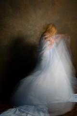 ghostly (KieraJo) Tags: 2470mm f28 l zoom canon 5d mark 3 iii 5d3 fullframe dslr portrait studio lighting backdrop interesting strange blur movement blue sheet fabric dreamy beautiful